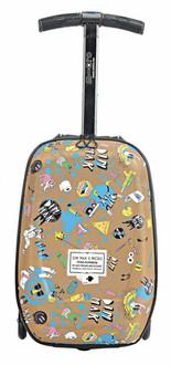 Micro Mobility ML0007 На колесиках Бежевый, Разноцветный luggage bag
