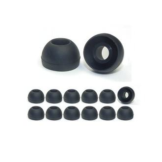 Earphones Plus 300-C-6BLK-6CLR-M Силиконовый Черный, Прозрачный 24шт подушечки для наушников
