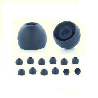 Earphones Plus 135-B-6BLK-6CLR-S Силиконовый Черный, Прозрачный 24шт подушечки для наушников