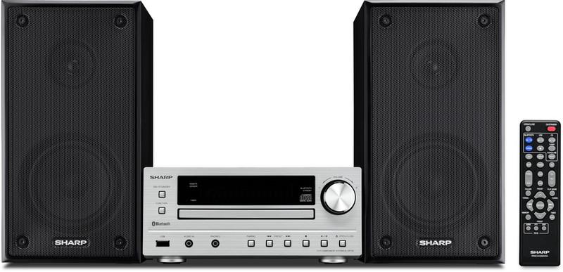 Sharp XL-HF102BHS 50Вт Черный, Cеребряный домашний музыкальный центр