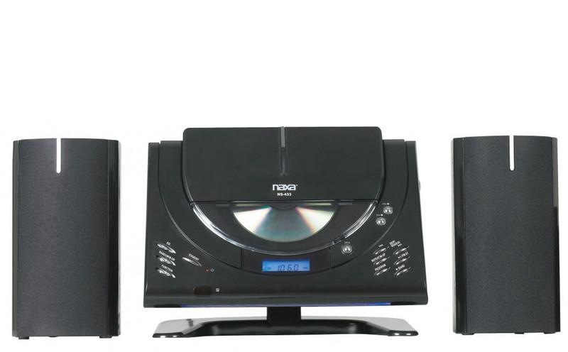Naxa NS-433 Micro set 4.4Вт Черный домашний музыкальный центр