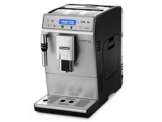 DeLonghi Autentica Plus Отдельностоящий Автоматическая Espresso machine 1.4л Черный, Cеребряный