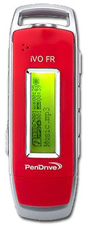 Pendrive 128mb MP3 2.0 iVO red