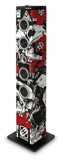 Bigben Interactive TW7FREEGUN2 Tower 40Вт Черный, Красный, Белый домашний музыкальный центр