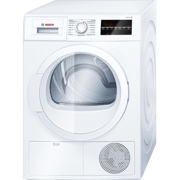 Bosch WTG86400 Отдельностоящий Фронтальная загрузка 8кг B Белый сушилка для белья
