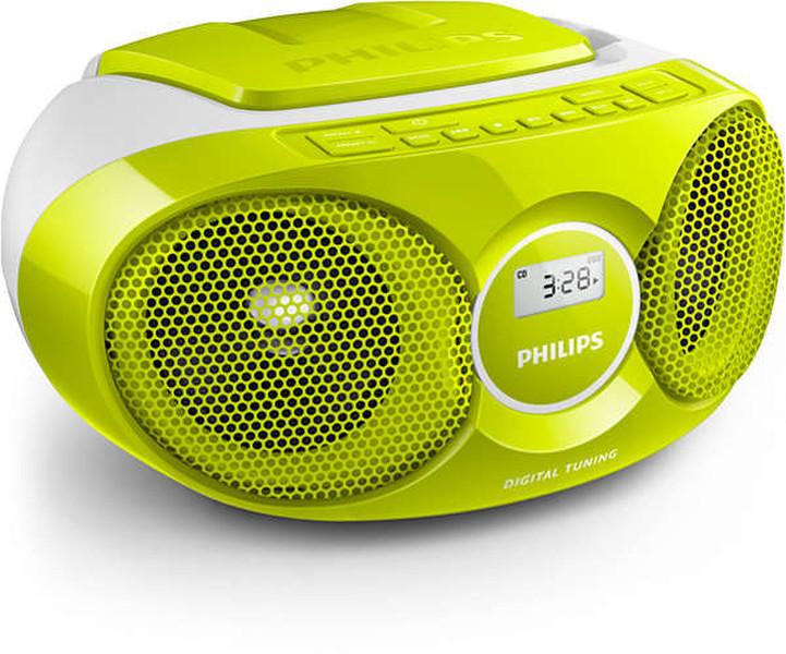 Philips AZ215G/12 3Вт Зеленый, Cеребряный домашний музыкальный центр