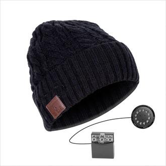 Phoenix Technologies PHBEANIEBTB Беспроводной Черный шапка с наушниками