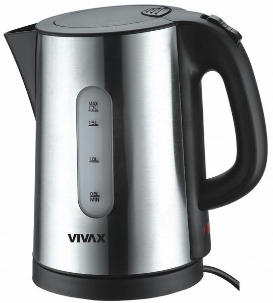 Vivax WH-173 SL 1.7л 2200Вт Черный, Нержавеющая сталь электрический чайник