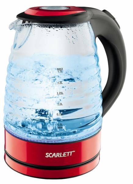 Scarlett SC-EK27G96 1.7л Черный, Красный, Прозрачный 2200Вт электрический чайник