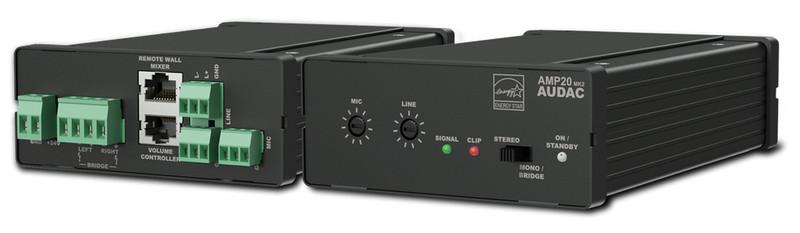 AUDAC AMP20MK2 Представление / сцена Проводная Черный усилитель звуковой частоты