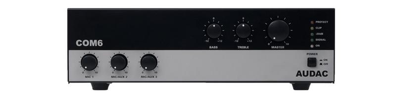 AUDAC COM6 Представление / сцена Проводная Черный усилитель звуковой частоты