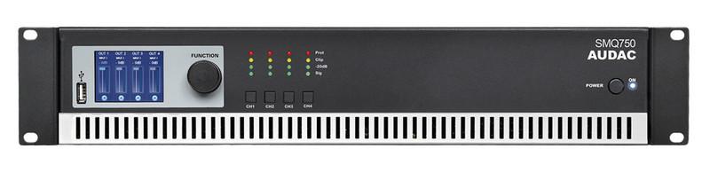 AUDAC SMQ750 4.0 Проводная Черный усилитель звуковой частоты