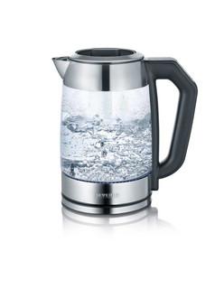 Severin WK 3477 1.7л 2200Вт Черный, Cеребряный, Прозрачный электрический чайник