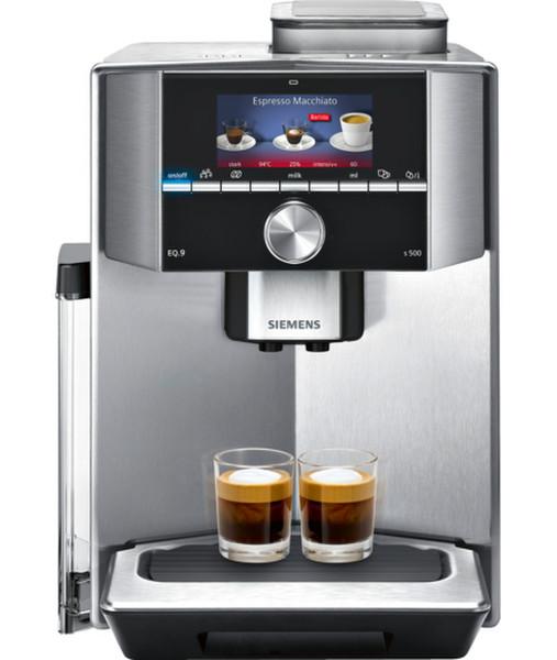 Siemens TI915531DE Отдельностоящий Автоматическая 2.3л 2чашек Черный, Нержавеющая сталь кофеварка