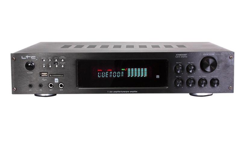 Lotronic ATM8000BT Представление / сцена Проводной и беспроводной Черный усилитель звуковой частоты