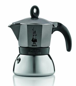 Bialetti Moka Induction Отдельностоящий Руководство Manual drip coffee maker 3чашек Черный