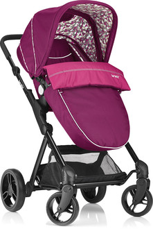 Brevi 8011250766242 Traditional stroller 1место(а) Розовый детская коляска