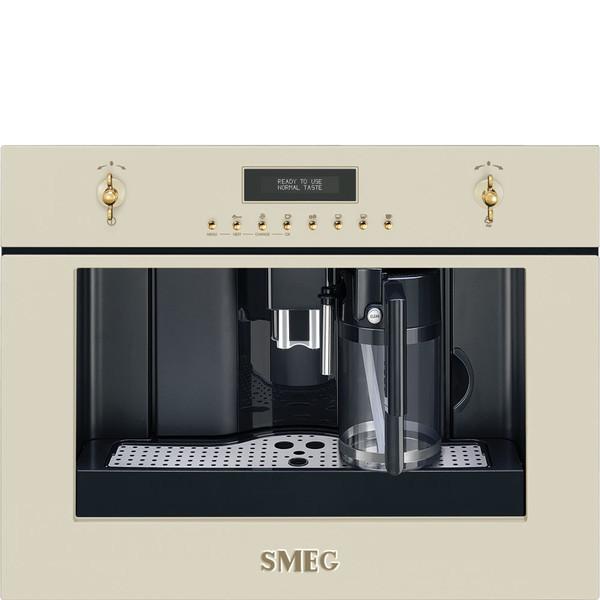 Smeg CMS8451P Встроенный 1.8л Кремовый кофеварка