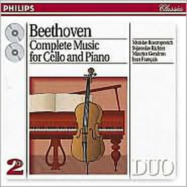 Philips Beethoven: Complete Music for Cello & Piano (1994) CD-R 700МБ 2шт