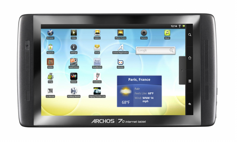 Archos Internet 70 250ГБ Черный планшетный компьютер