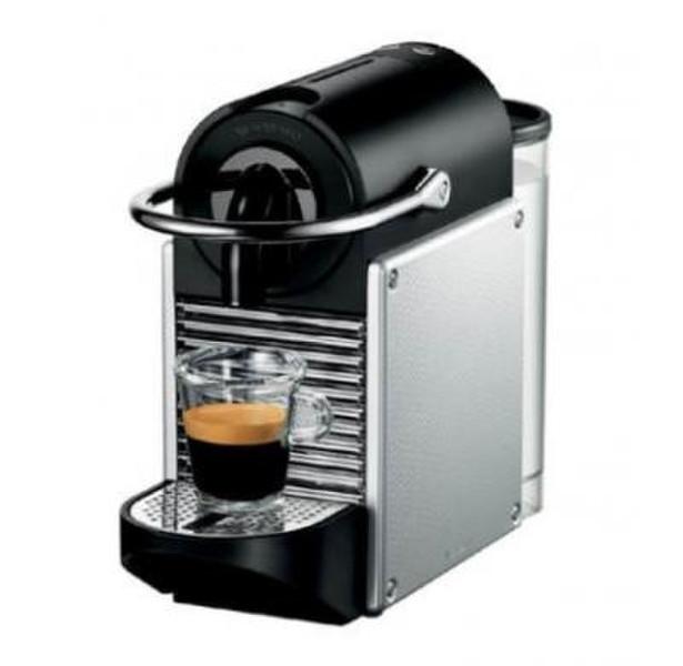 DeLonghi Pixie EN 125.S Отдельностоящий Semi-auto Капсульная кофеварка 0.7л Черный, Cеребряный