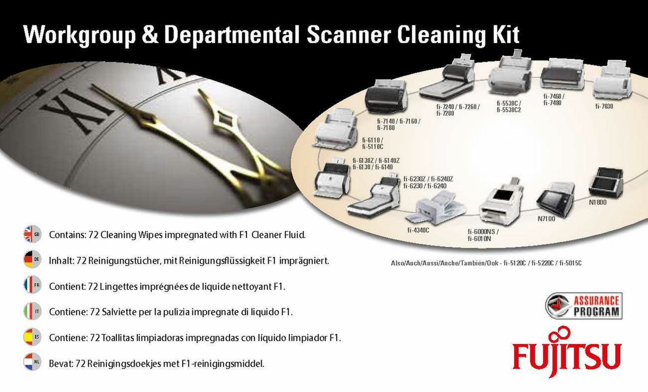 Fujitsu Sc Cle Wgd Best Price Technical Specifications Fi Series 7240 Scanner Scanners Equipment Cleansing Wet Cloths Kit